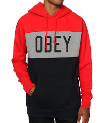 cost effective obey league hoodie red obey mens clothing