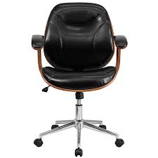 Modern Line Furniture Reviews by Amazon Com Flash Furniture Mid Back Black Leather Executive Wood