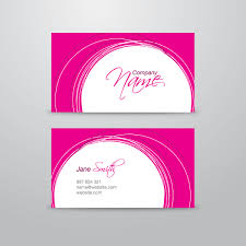 pink business card vector template 123freevectors