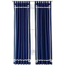 White Curtains With Blue Trim Chic By Jonathan Adler Elizabeth Canvas Curtain Panel I Jcpenney