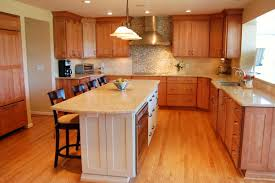 L Shaped Kitchen Island Ideas by Kitchen White Cabinets Brown Wood Floor Decor For L Shaped
