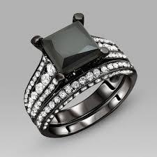 black cubic zirconia engagement rings black engagement ring for black cubic zirconia princess cut