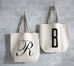 personalized alphabet grocery tote bag pottery barn