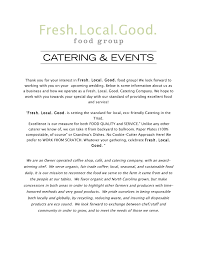 Buffet Menu For Wedding by Catering And Events Fresh Local Good Food Group