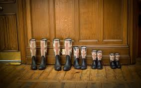 British Flag Boots Black Red And Blue England Flag Print Rain Boots Free Stock Photo