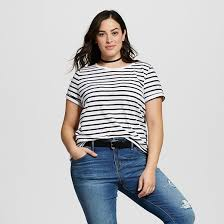 s plus size striped crew neck t shirt target