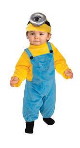 baby minion costume rubie s baby boys minion stewart romper costume