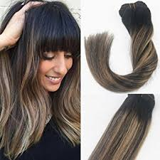 14 inch hair extensions 14 inch balayage ombre clip in hair extensions brown