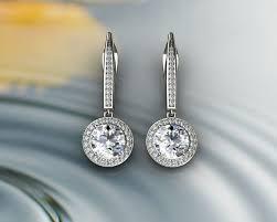 diamond earrings diamond earrings 3d printable model cgtrader