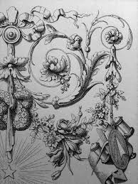 surface fragments ornament drawings acanthus and decoration