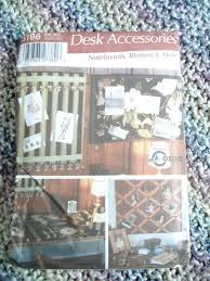 simplicity home decorating 5196 desk accessories pattern by