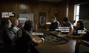 Sons Of Anarchy Meeting Table Sons Of Anarchy S7e13 Papa S Goods Project Fandom