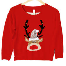 rudolph sweater zazzy jingle bell rudolph reindeer sweater the