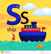 s for ship stock vector image 55878763