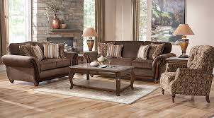 Rooms To Go Living Room Furniture by Ansel Park Brown 5 Pc Living Room Living Room Sets Brown