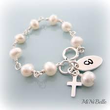 baby rosary bracelet baby pearl bracelet cross bracelet rosary bracelet