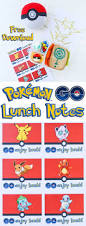 pokémon go lunch notes free printable download