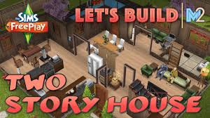 Home Design Story Level Up Sims Freeplay Let U0027s Build A 2 Story House Live Build Tutorial