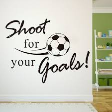 Kids Room Decals by Shoot For Your Goals Soccer Wall Stickers For Kids Rooms Bedroom
