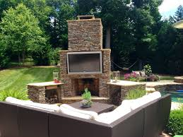 Backyard Building Plans Exterior Design Appealing Backyard Stone Fireplace Designs With