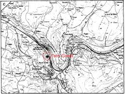 Dordogne France Map by Venus Of Courbet Bruniquel Montastruc