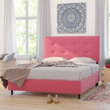 Bed Frames Montreal Mistana Montreal Upholstered Panel Bed Reviews Wayfair