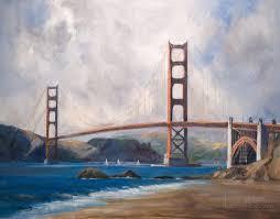 golden gate bridge san francisco painting u2013 baker beach oil painting