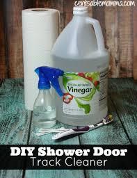 Shower Door Cleaner How To Clean Your Shower Door Tracks Centsable Momma