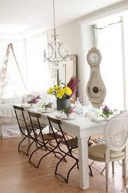 charming clock dining room shabby chic style with french country