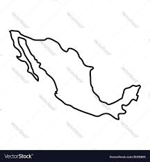 Mexico Country Map by Mexico Country Map Royalty Free Vector Image Vectorstock