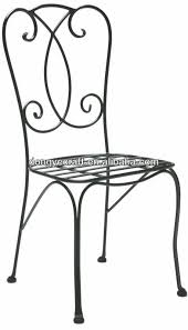 Wrought Iron Bistro Chairs Patio Wrought Solid Iron Chair Yc000816 Chairs Pinterest