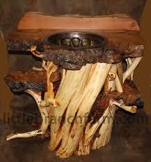 Log Vanity Twisted Juniper Furniture Rustic Vanity Tree Bathroom Vanity Tsc