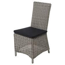 chaises tress es chaise de jardin en résine tressée grise maisons du monde