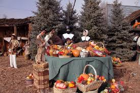 pilgrims at thanksgiving table editorial photography image of