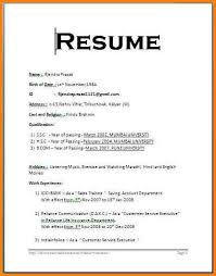 Example Of One Page Resume by Examples Of Simple Resume Easy Resume Template Free To Get Ideas