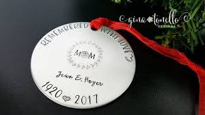 personalized in loving memory gifts loss of ornament in loving memory of ornament memorial