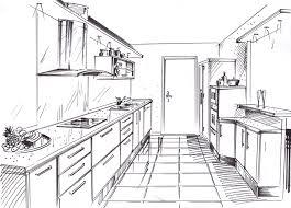 dessiner une cuisine en perspective dessin chambre perspective inspiration sur l intérieur et les