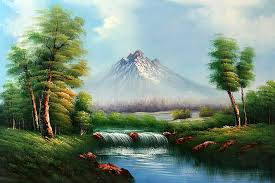 Mountain Landscape Paintings by Classic Mountain Landscape Pinturas Paisajes Pinterest