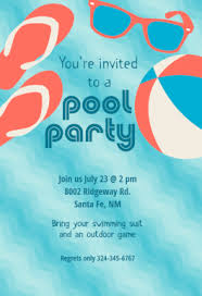 pool party stuff free printable summer party invitation template