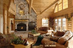 golden eagle log homes log home cabin pictures photos custom great room view 3