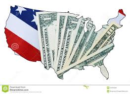 Flag Financial Usa Stars And Stripes Flag And Money Within Outline Of Usa Map