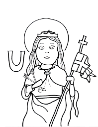 u is for st ursula saints to color