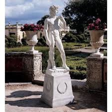 amazon com design toscano david sculpture outdoor statues