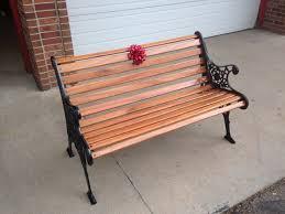 cast iron bench with mahogany wood slats my projects