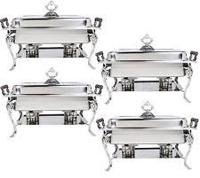 catering classic stainless steel chafer chafing dish set 8 qt