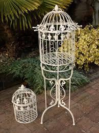 Bird Cage Decoration Decorative Bird Cage Round White Metal Vintage Wedding Medium Size