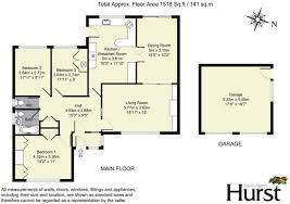 Standard Size Garage 3 Bedroom Bungalow For Sale In Orchard End Hazlemere Hp15