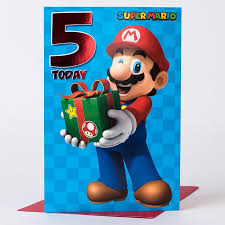 5th birthday card super mario only 99p