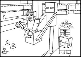 roblox minecraft coloring pages