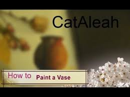 How To Paint A Vase How To Paint A Vase Acrylic Tutorial For Beginners Youtube